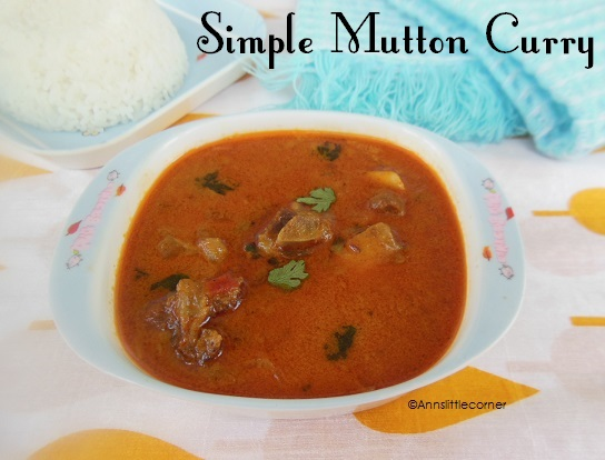 How to make Simple Mutton Curry- Step 6