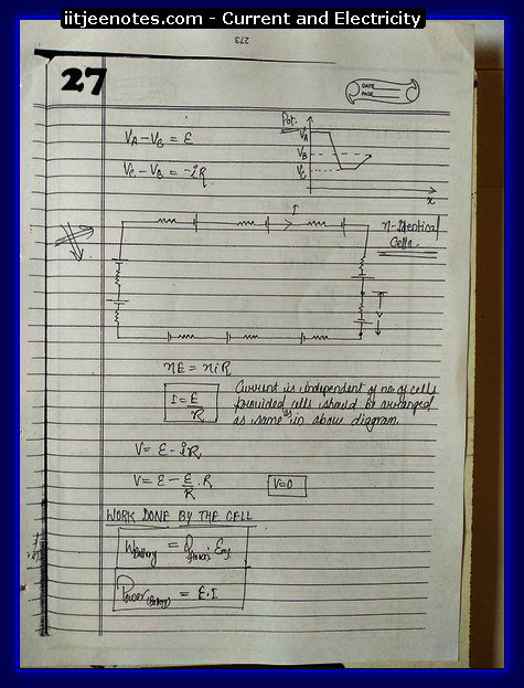 Current and Electricity Notes cbse2