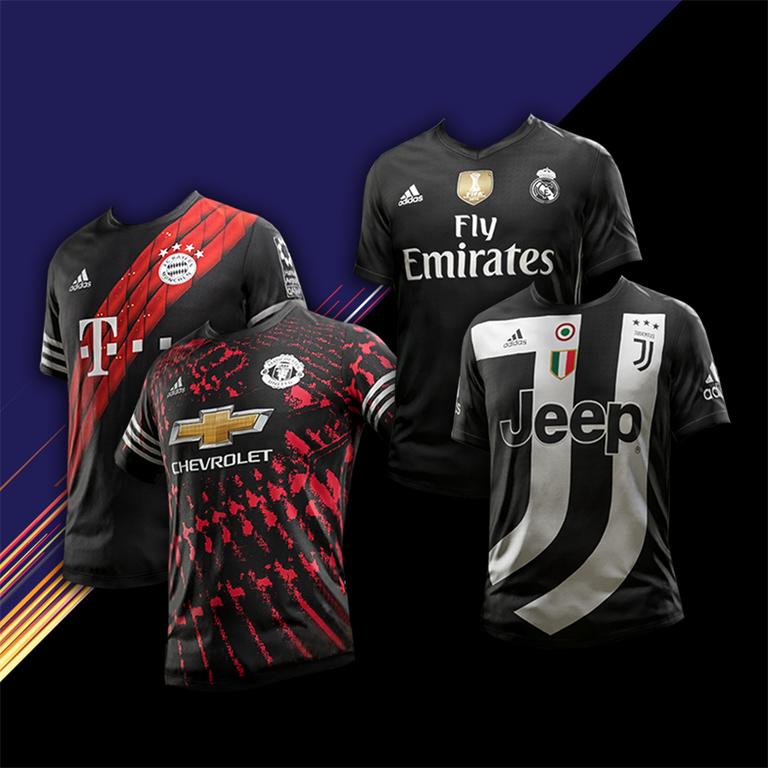9b89f390ef2 PES 2018 FIFA 18 Digital 4th Kits   Fantasy Kits by AngelPO ...