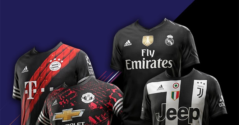 PES 2018 FIFA 18 Digital 4th Kits & Fantasy Kits By