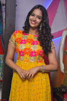 Pujitha in Yellow Ethnic Salawr Suit Stunning Beauty Darshakudu Movie actress Pujitha at a saree store Launch ~ Celebrities Galleries 012.jpg