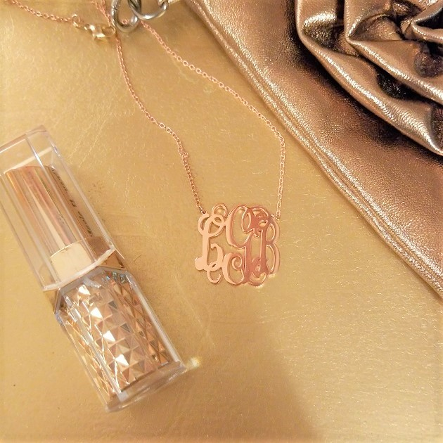Soufeel Rose Gold Monogram Necklace
