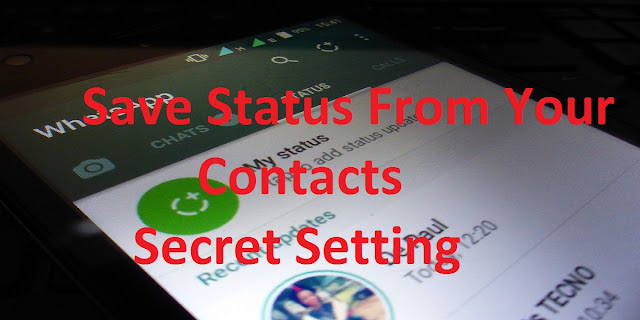 download whats app status from own contacts