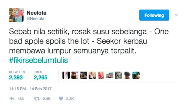 Neelofa Mengamuk Kerana Nila Setitik Rosak Susu Sebelanga Neelofa Muat Naik Status Untuk Sharnaaz Ahmad Hab Viral