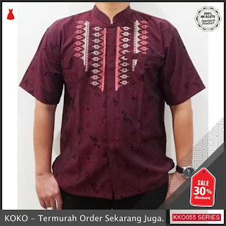 KKO55 WSL554 Kemaja Kombi Hem Koko Pria Jaguar Lengan Pendek Murah BMGShop