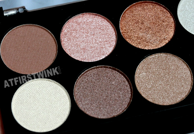 MUA (makeup academy) eyeshadow palette - Spring Break (left)