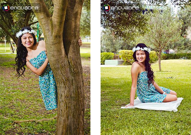 sesion fotos parque quinceañera