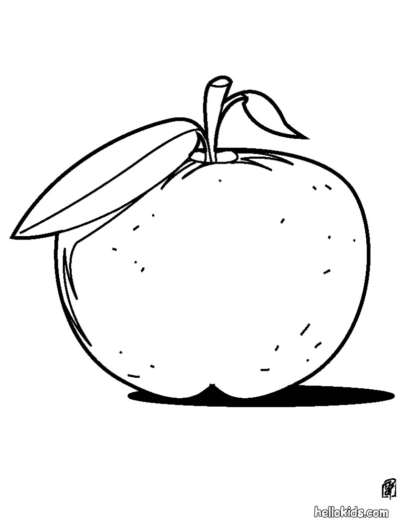 Free Coloring Pages Printable: Apple Coloring Pages Printable
