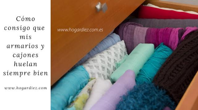 Cómo conseguir que tus cajones y armarios huelan siempre bien