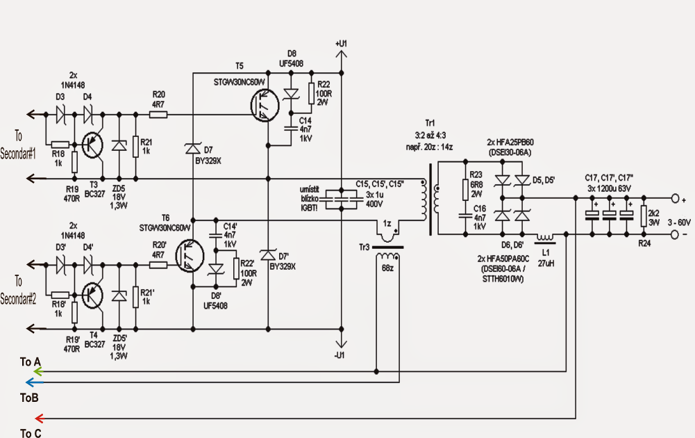 Adjustable 0100V 50 Amp SMPS Circuit Diagram Electronic Projects