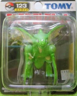 Scyther Pokemon figure Tomy Monster Collection black package series