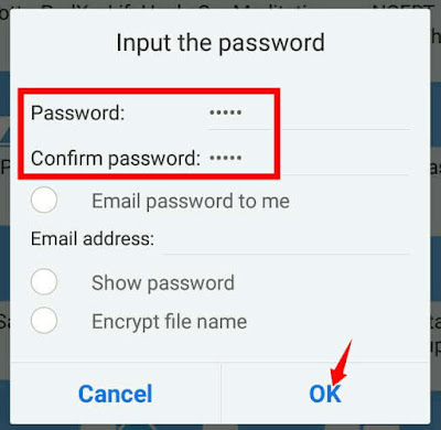 How to password protect file in mobile?