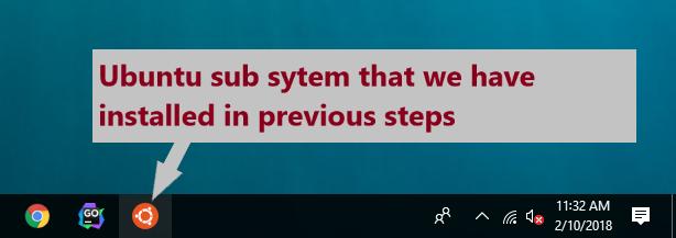 Ubuntu Linux subsystem