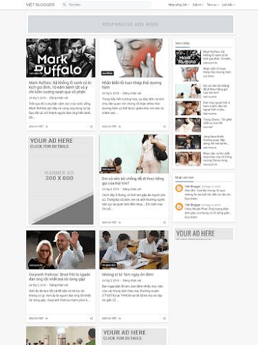 Giao diện blog cá nhân đẹp mẫu số 2