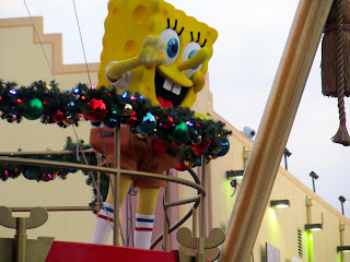 Sponge Bob on the Macy's Parade Float in orlando florida