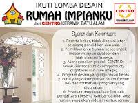 """Lomba Desain """"Rumah Impianku"""" Berhadiah Keramik CENTRO Gratis"""