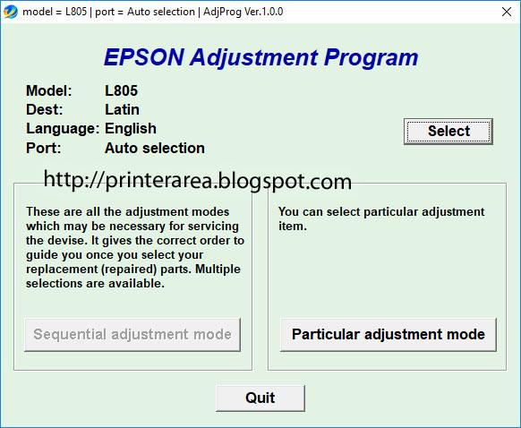 Cara Reset Printer Epson L 805 service Required terbaru