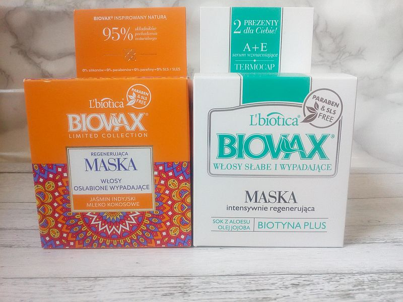 Regenerujące maski do włosów i termocap | Biovax