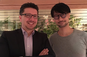 Cédric Biscay with Hideo Kojima in Tokyo