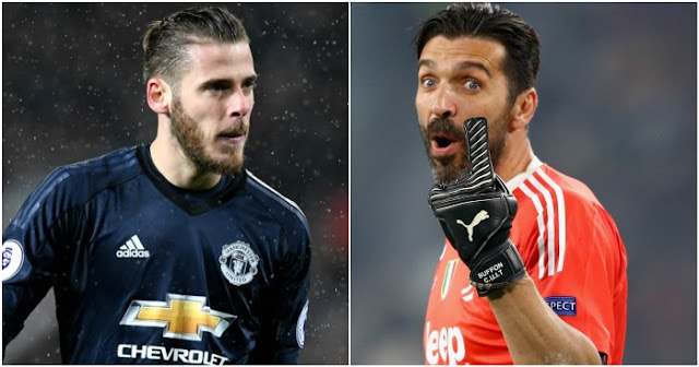 David de Gea Manchester United and Buffon