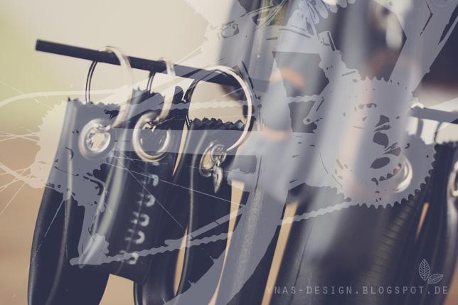 Ynas Design Blog, Fahrradschlauch-Schlüsselanhänger