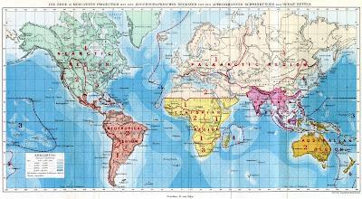 peta wilayah persebaran fauna di dunia wallace