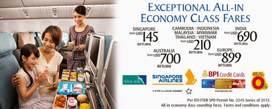 BPI: Singapore Airlines Exceptional All-in Promo Fares