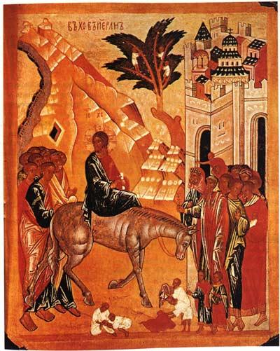 Risultati immagini per icone ed immagini domenica delle palme ingresso di Gesù a Gerusalemme