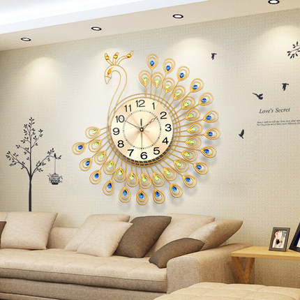 Home decor 25 european luxury wall clock design ideas for Living room wall clocks