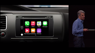 craig shows updates about carplay