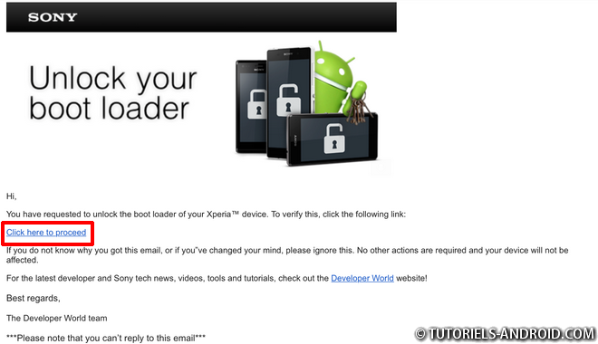 Unlock Bootloader SONY