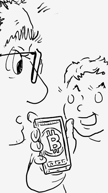 Silly Daddy Cryptocurrency Comic panel 5 by Joe Chiappetta
