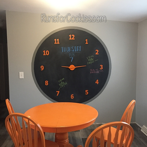 huge chalkboard wall clock