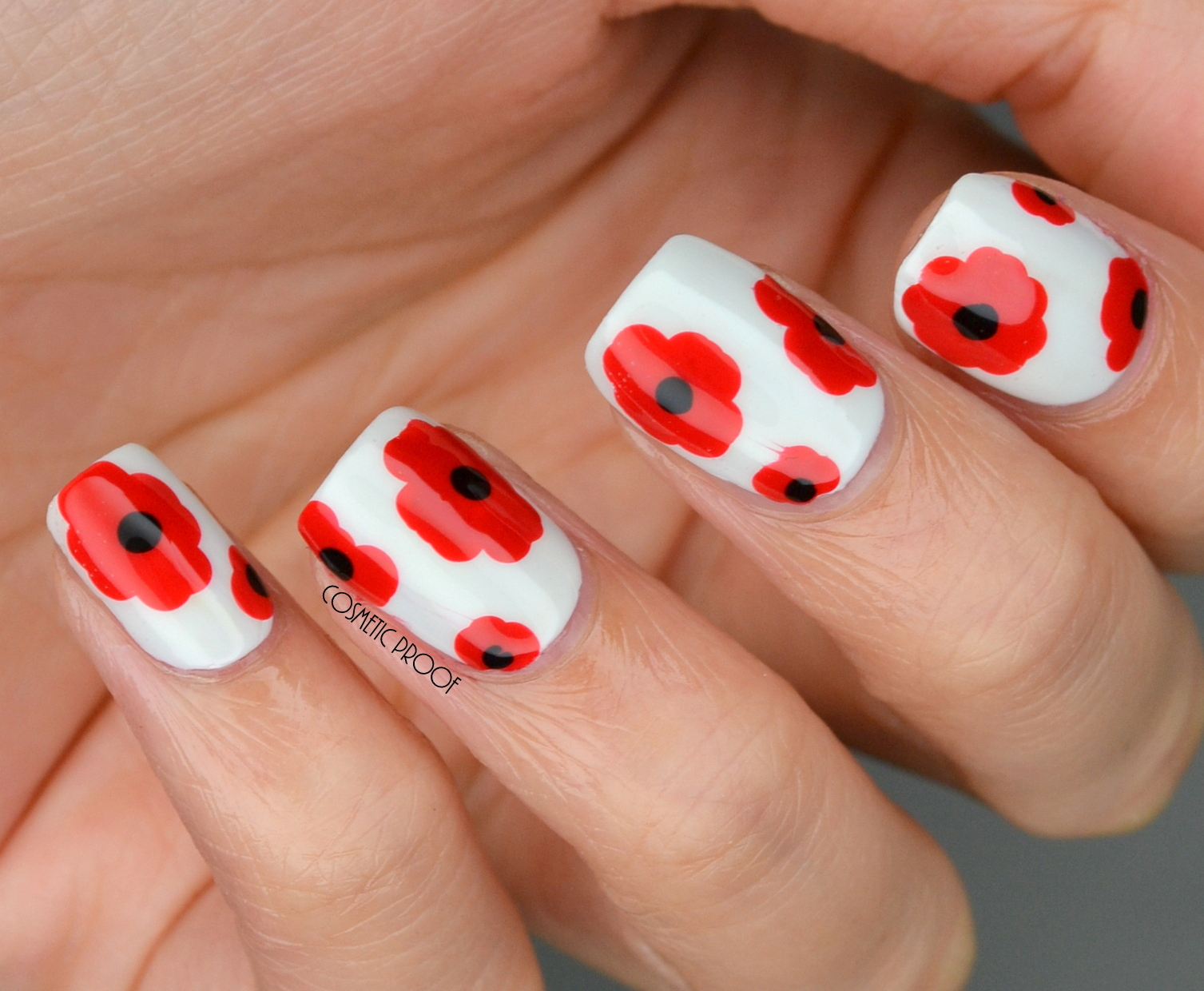 Nails Remembrance Day Poppy Nail Art Lest Weforget Cosmetic