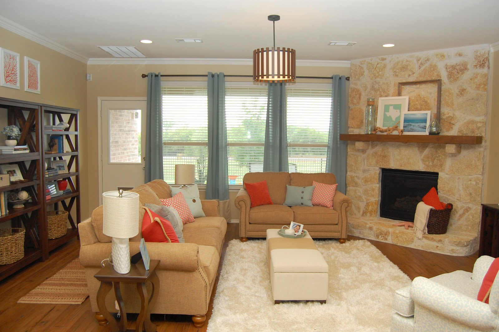blue and coral living room style with wisdom coral and blue living room 20937