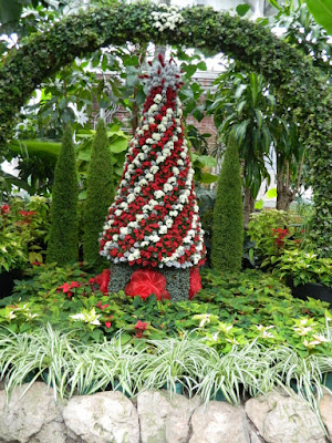 Allan Gardens Conservatory 2017 Christmas Flower Show Christmas tree topiary by garden muses-not another Toronto gardening blog