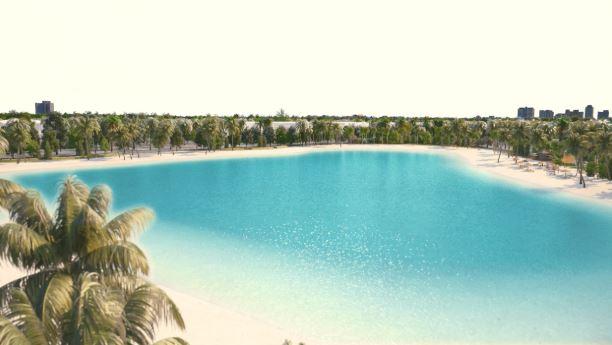 Thỏa sức vui chơi với biển hồ nước mặn vincity ocean park