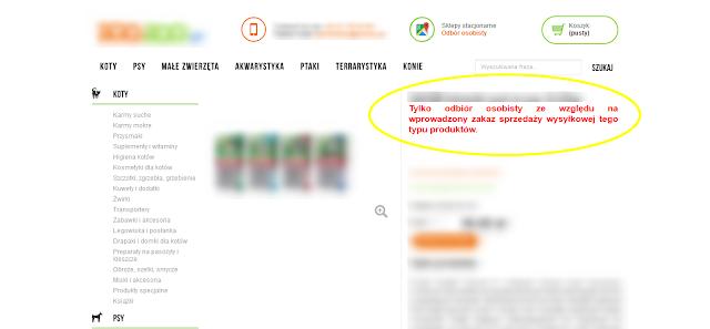 Zakaz sprzedaży wysyłkowej preparatów na kleszcze
