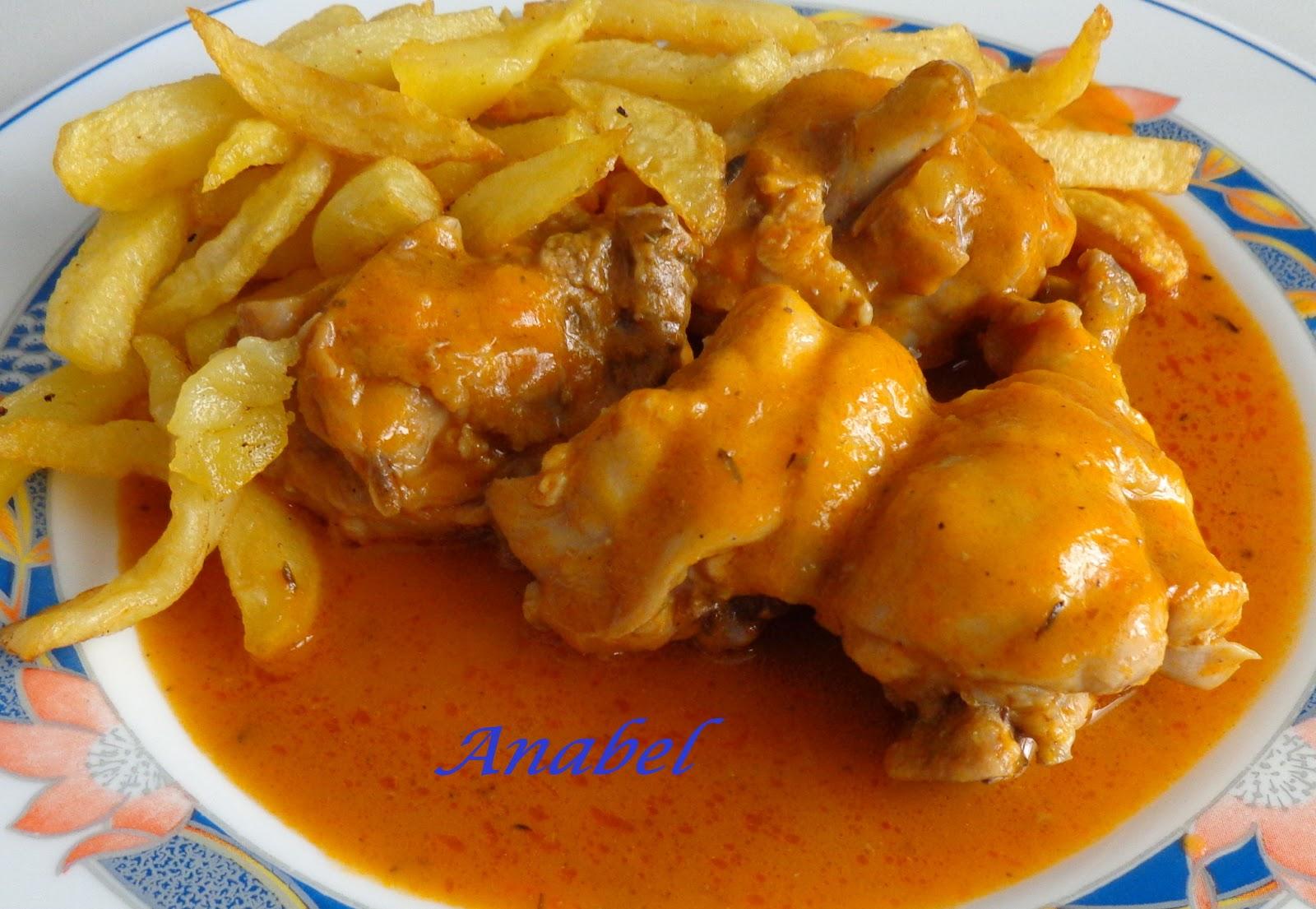 pollo en salsa en olla rapida