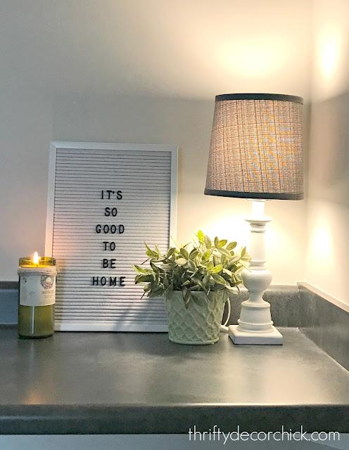 Affordable felt letterboard sign