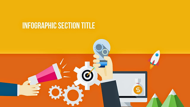 flat design section title for Free Infographic PowerPoint Template