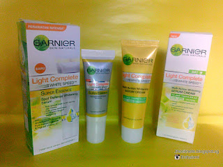 Review Garnier Light Complete White Speed Serum Cream dan Super Essence +