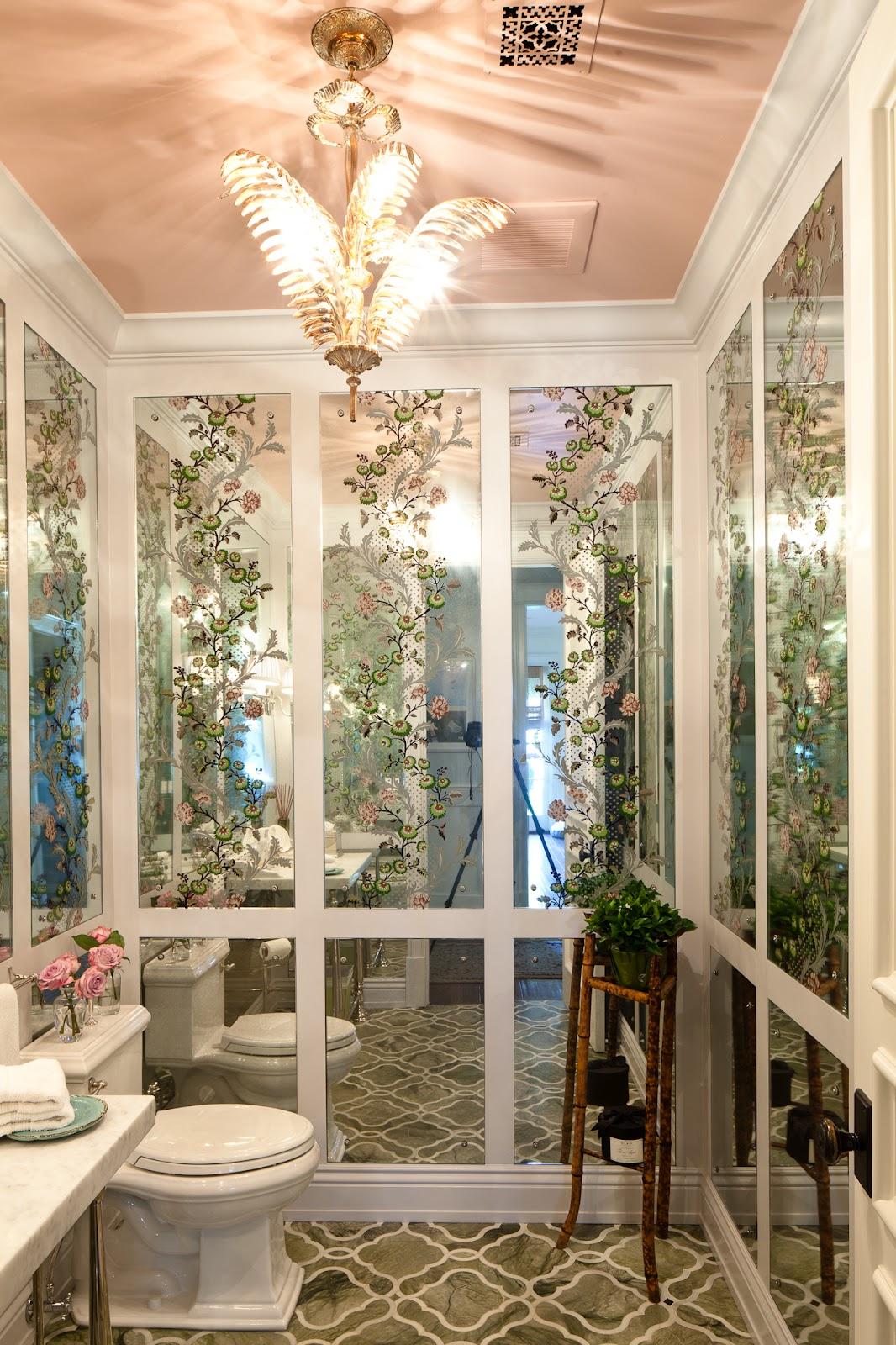 enchanting pink ceiling bathrooms | Chinoiserie Chic: June 2012