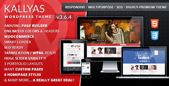 Download Free KALLYAS v3.6.4 Responsive Multi-Purpose WordPress Theme