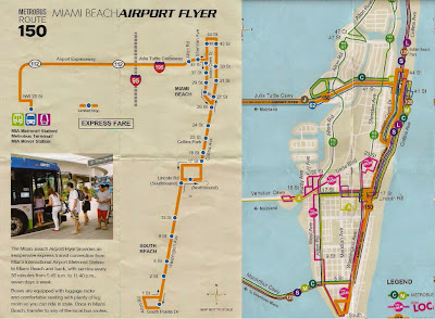 Plano route 150 Airport Flyer - Miami Beach, La vuelta al mundo de Asun y Ricardo, round the world, mundoporlibre.com
