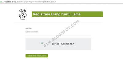 Masih membahas seputar registrasi ulang kartu perdana Cara Registrasi Ulang Tri / Three (Kartu Prabayar / Sim Card)
