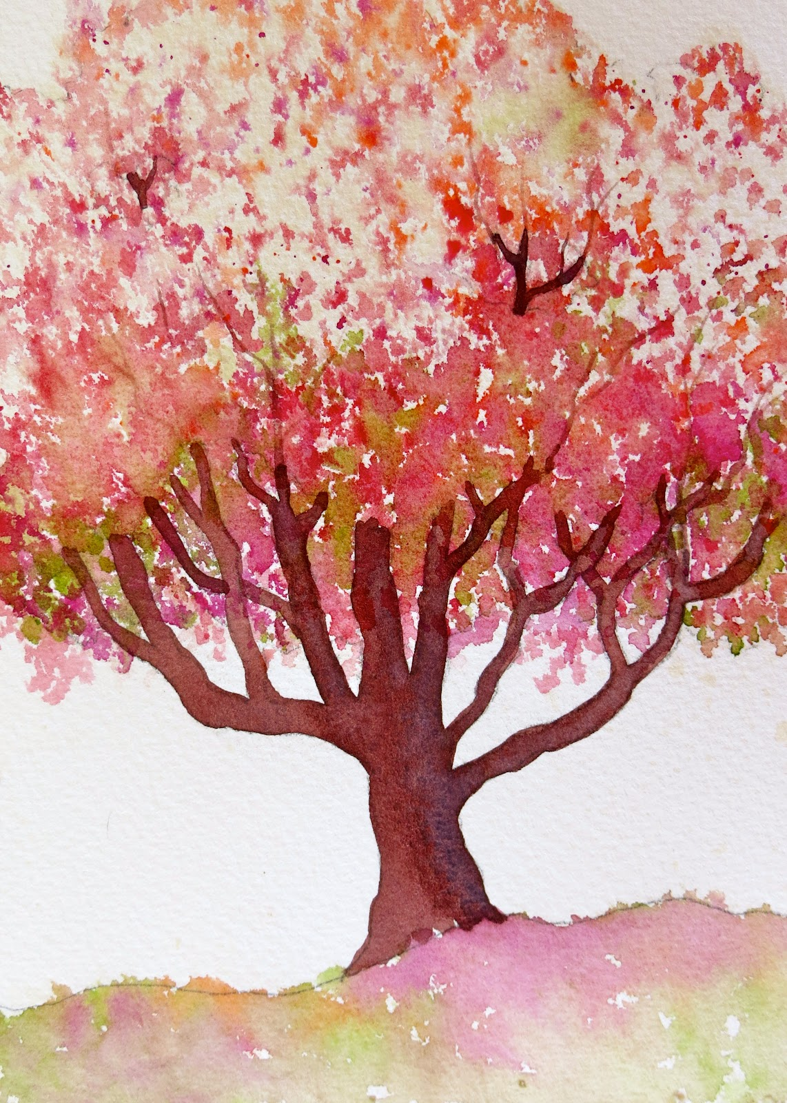 Easy Watercolor Painting Ideas Fall