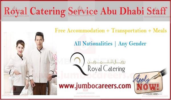 Recent job careers in Abu Dhabi, catering job openings in UAE,