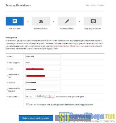 Formulir pendaftaran anggota baru situs paid survey iPanelonline Indonesia | SurveiDibayar.com