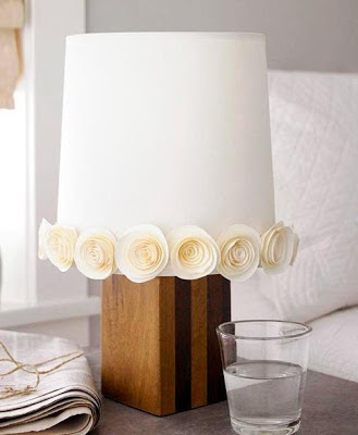 decorate with paper roses